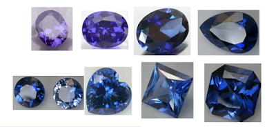 Cubic-zirconia-Tanzanite-Colored-Stones