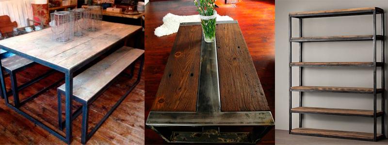 Muebles r sticos vintage y industriales for Muebles industriales retro