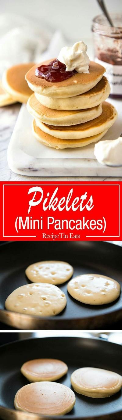 Pikelets Mini Pancakes. Foto: www.recipetineats.com