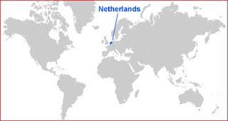 Gambar Peta letak Belanda