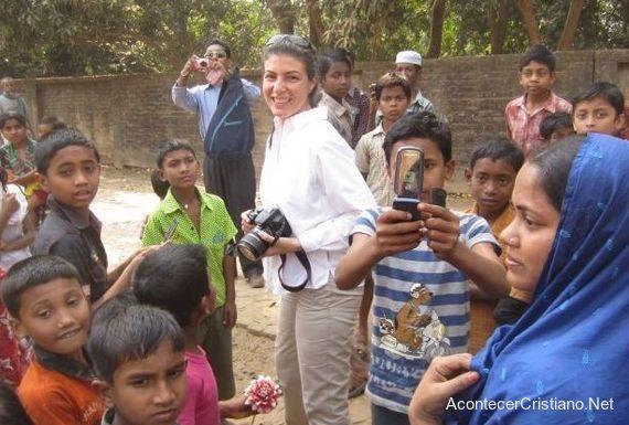 Misionera Ana Mims en Singapur