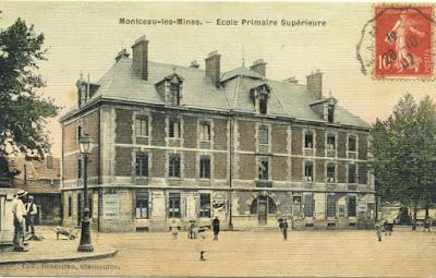 Ecole Primaire Supérieure de Montceau en 1907 (source Canopé)