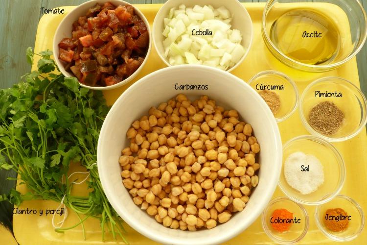 ingredientes para el guiso del cuscús