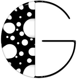 Abecedario Negro con Manchas Blancas. Black Alphabet with White Spots.
