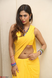 Nishigandha in Yellow backless Strapless Choli and Half Saree Spicy Pics 106.JPG