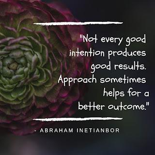 approach matters