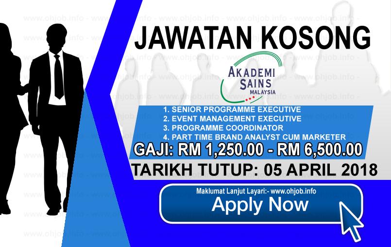 Jawatan Kerja Kosong ASM - Akademi Sains Malaysia logo www.ohjob.info april 2018