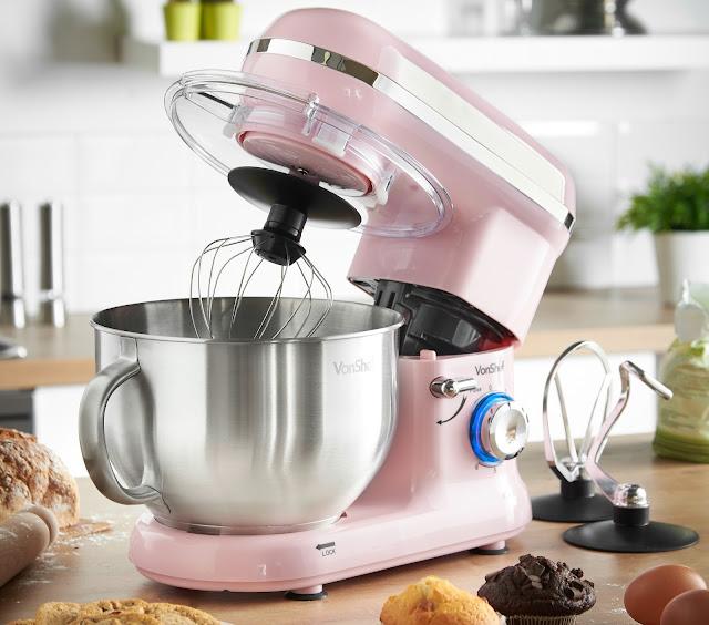 VonShef stand mixer in pink
