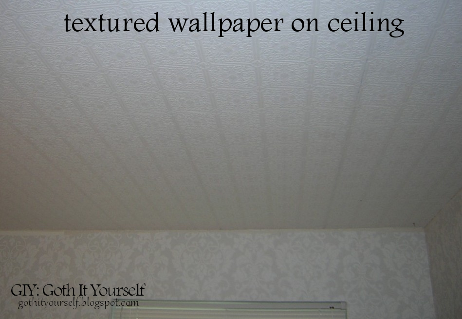 GIY: Goth It Yourself: Create a Faux Tin Ceiling with Wallpaper