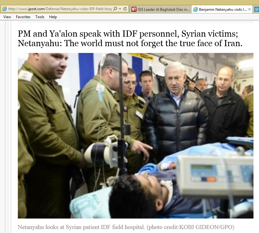 Image result for netanyahu; takfiri; hospital;