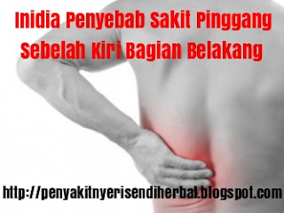 Sakit Pinggang Sebelah Kiri Bagian Belakang, Ini Penyebabnya