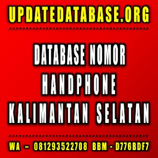 Jual Database Nomor Handphone Kalimantan Selatan