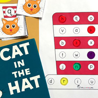 graphic regarding Cat in the Hat Printable Activities known as 25 No cost Dr. Seuss-motivated Printables for Youngsters