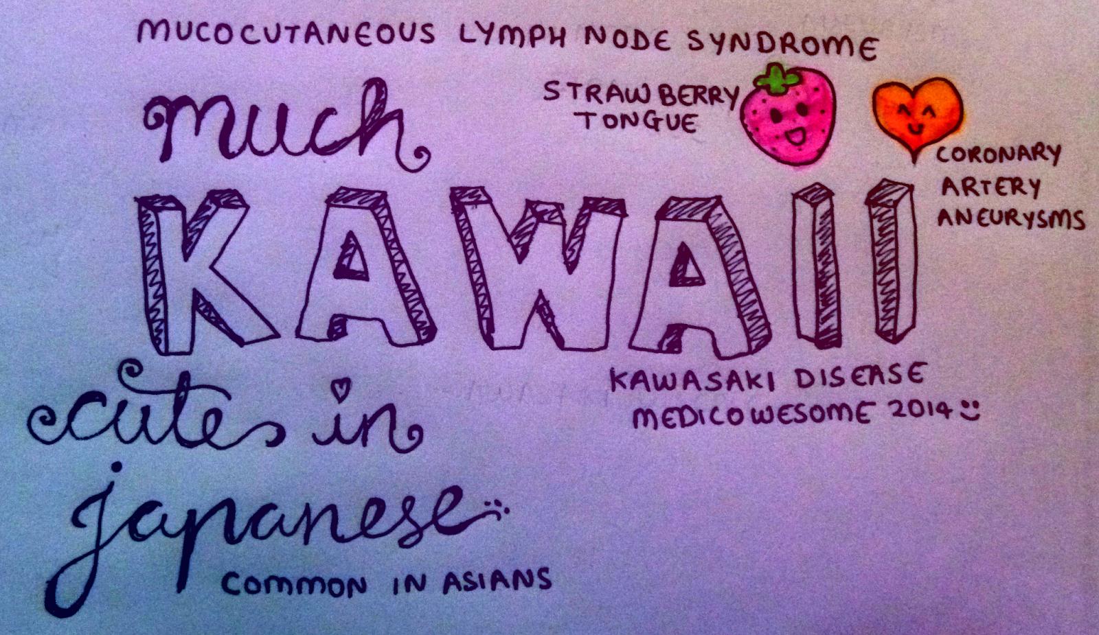 medicowesome: kawasaki disease mnemonic
