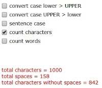 character counting short cut