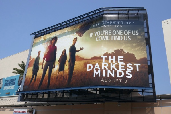 Darkest Minds movie billboard