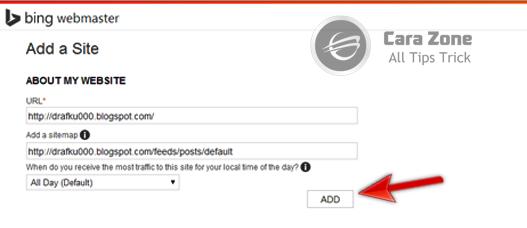Cara Daftar Verifikasi Blog di Bing Webmaster