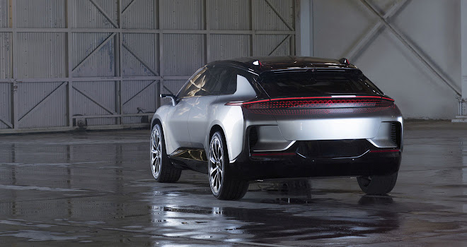 Faraday Future FF 91 rear view