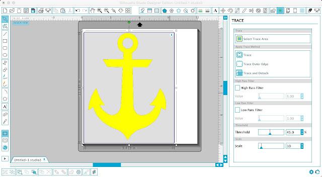 Silhouette Cameo, Silhouette Studio, monogram, anchor, beach cover up, men's t-shirt