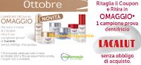 Logo Campioni omaggio dentifricio Lacalut e Eucerin: ricevili gratis