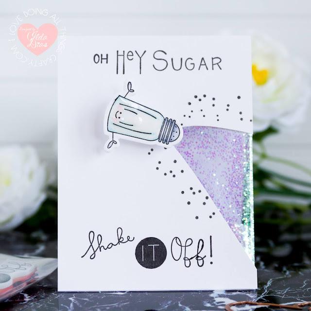 Hey Sugar Shaker   Partial Shaker Window   Wobble Card by ilovedoingallthingscrafty.com