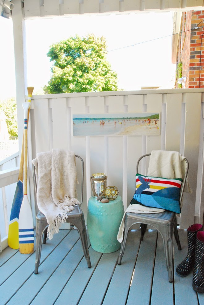 beachy back porch metal chairs