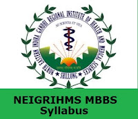 NEIGRIHMS MBBS Syllabus