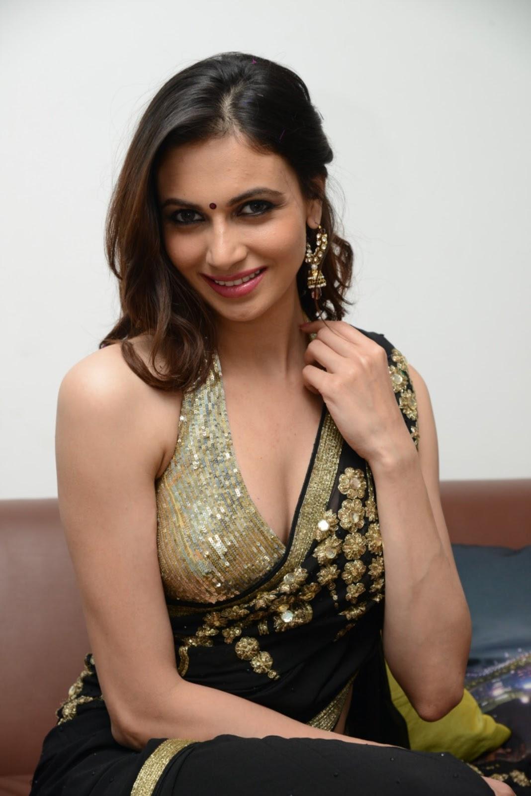 Simran Kaur Hot Cleavage Show Photos In Saree - Hot Blog -1602
