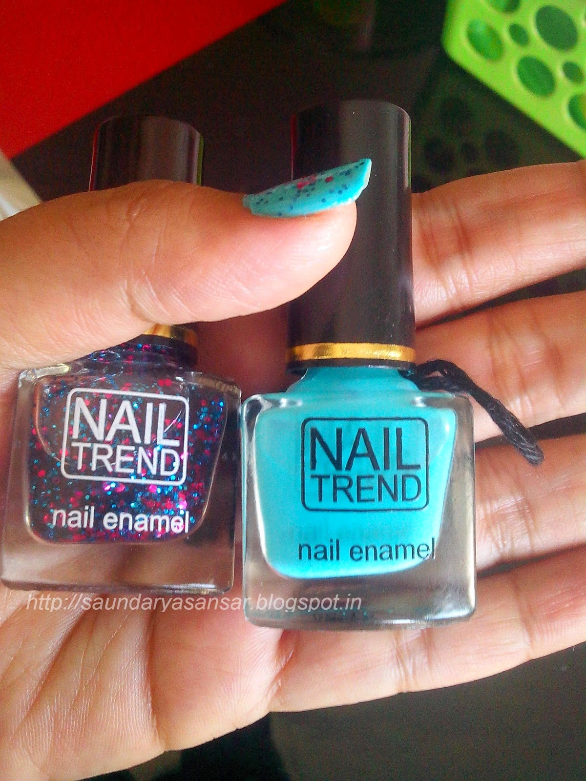NAIL TREND in Peppy and Fresh Blue, Swatches & Review