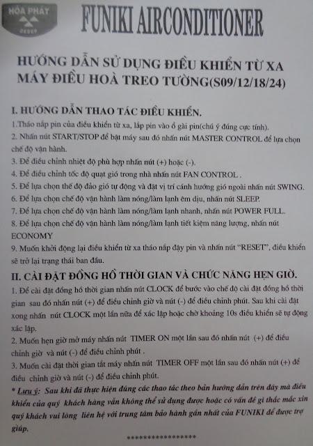 Bán điều khiển điều hòa Funiki tại Hà Nội