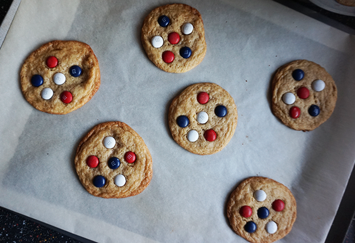 Ryder Cup M&M Cookies // A Style Caddy