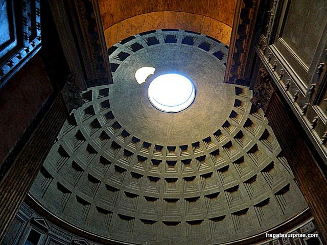 Detalhe da cúpula do Pantheon, Roma