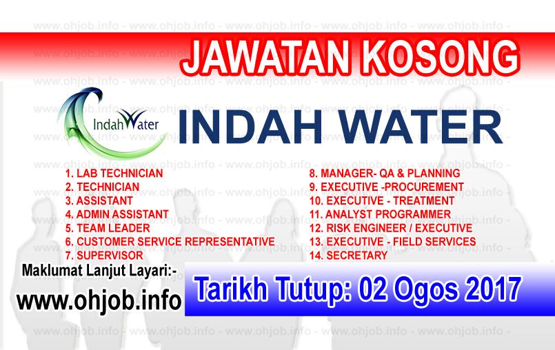 Jawatan Kerja Kosong Indah Water Konsortium - IWK logo www.ohjob.info ogos 2017