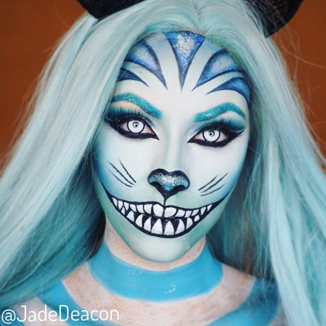 07-Alice-in Wonderland-Cheshire-Cat-Jade-Deacon-Fantasy-Transformations-for-Halloween-with-Body-Paint-www-designstack-co