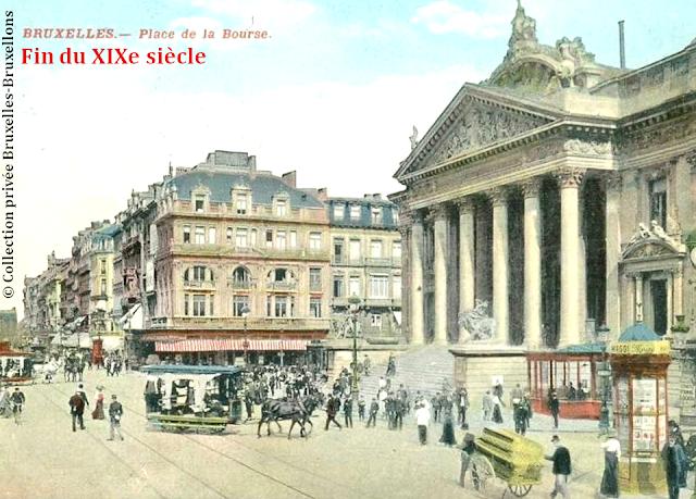 Place et palais de la Bourse - Bruxelles - Fin du XIXe siècle - Bruxelles-Bruxellons