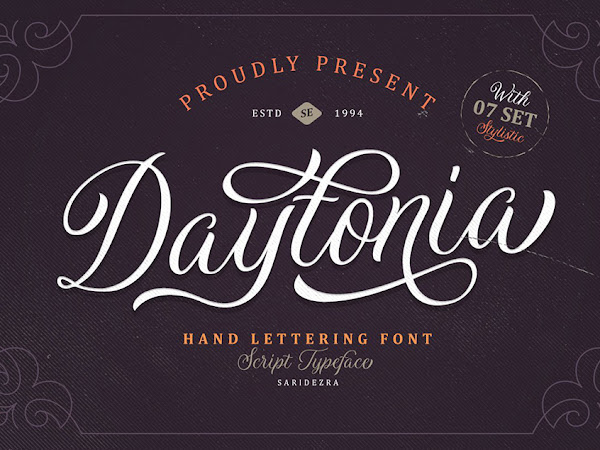 Daytonia - Hand Lettering Script Free Download