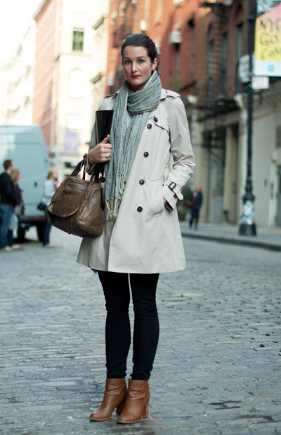 How to Wear a Scarf to the Coat