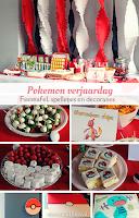Pokemon verjaardag - feesttafel, versieringen en spelletjes