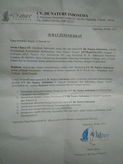 Alamat Kantor De Nature Indonesia di Jakarta