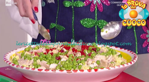 Insalata di riso giallo con pollo e piselli ricetta Moroni da Prova del Cuoco