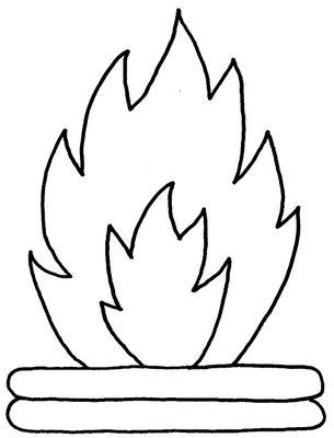 Desenhos De Fogueira Para Colorir Pintar Imprimir Desenhos De