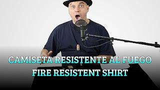 Camiseta resistente al fuego, LIQUIDS DENSITY, Fire resitent shirt