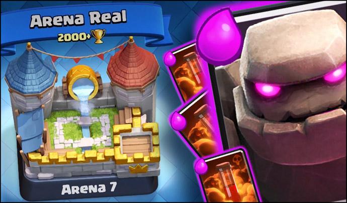 Deck de golem para arena 7 no n vel 6 clash royale dicas for Clash royal deck arene 7