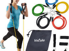 Resistance Bands Set Yoga Pilates, only $5.95