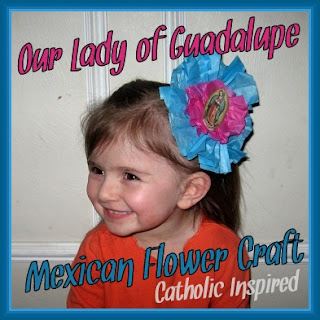2bd1eebc3cc Our Lady Of Guadalupe Mexican Flower Craft - Catholic Inspired