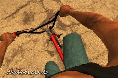 gta sa san mod fps first person câmera primeira pessoa bicicleta