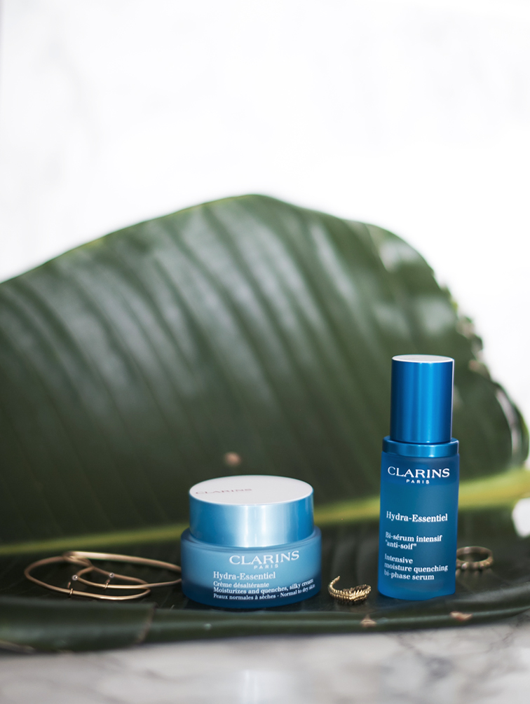 Clarins Hydra-Essentiel Bi-phase serum and moisturizer, heleneisfor, fashion over reason