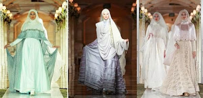 busana pengantin muslimah 2015