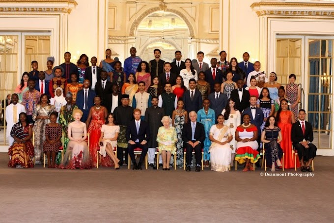 Her Majesty The Queen presents Award to 3 young Ghanaians dedicated to changing the world