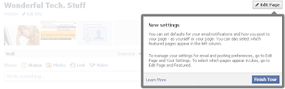 Facebook New Setting for Pages